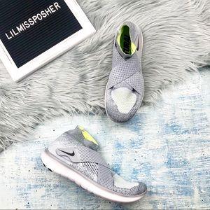 NEW Nike Free RN Flyknit Gray Running Sneaker 8.5